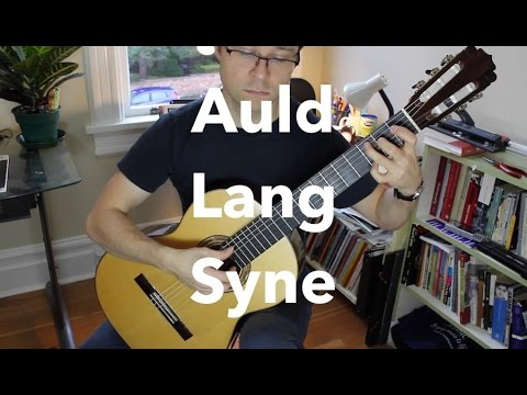 Easy Auld Lang Syne for Guitar (Free PDF)