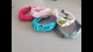 Como hacer cintillos turbantes.  #Diadema #turbante