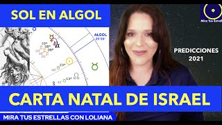 CARTA NATAL DE ISRAEL * Estudio Astrológico Completo Retorno Solar 2021
