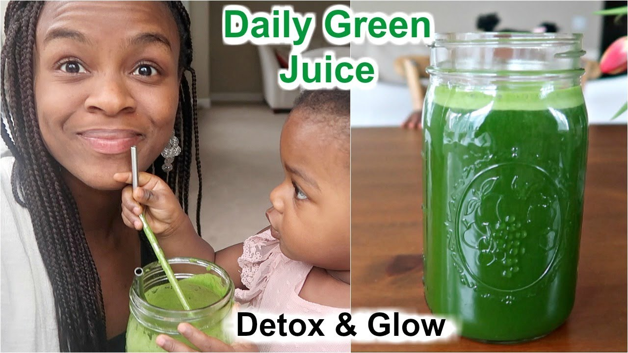 My Daily Green Juice Recipe for Detox & Glow