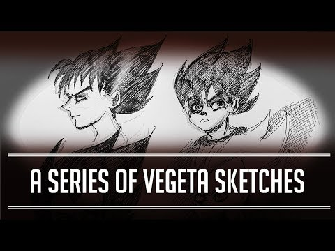DBZ A Series of Vegeta Sketches