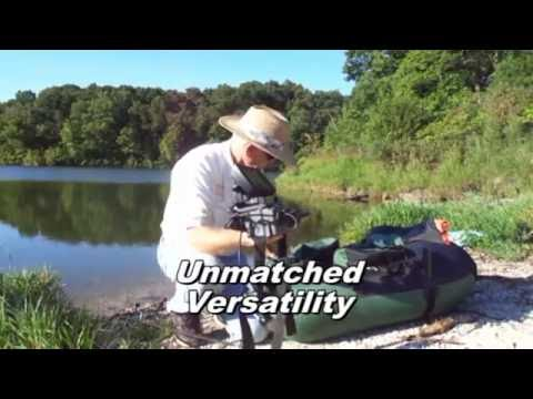 How to easily put a fish finder on your fishing float tube for Float tube fish finder