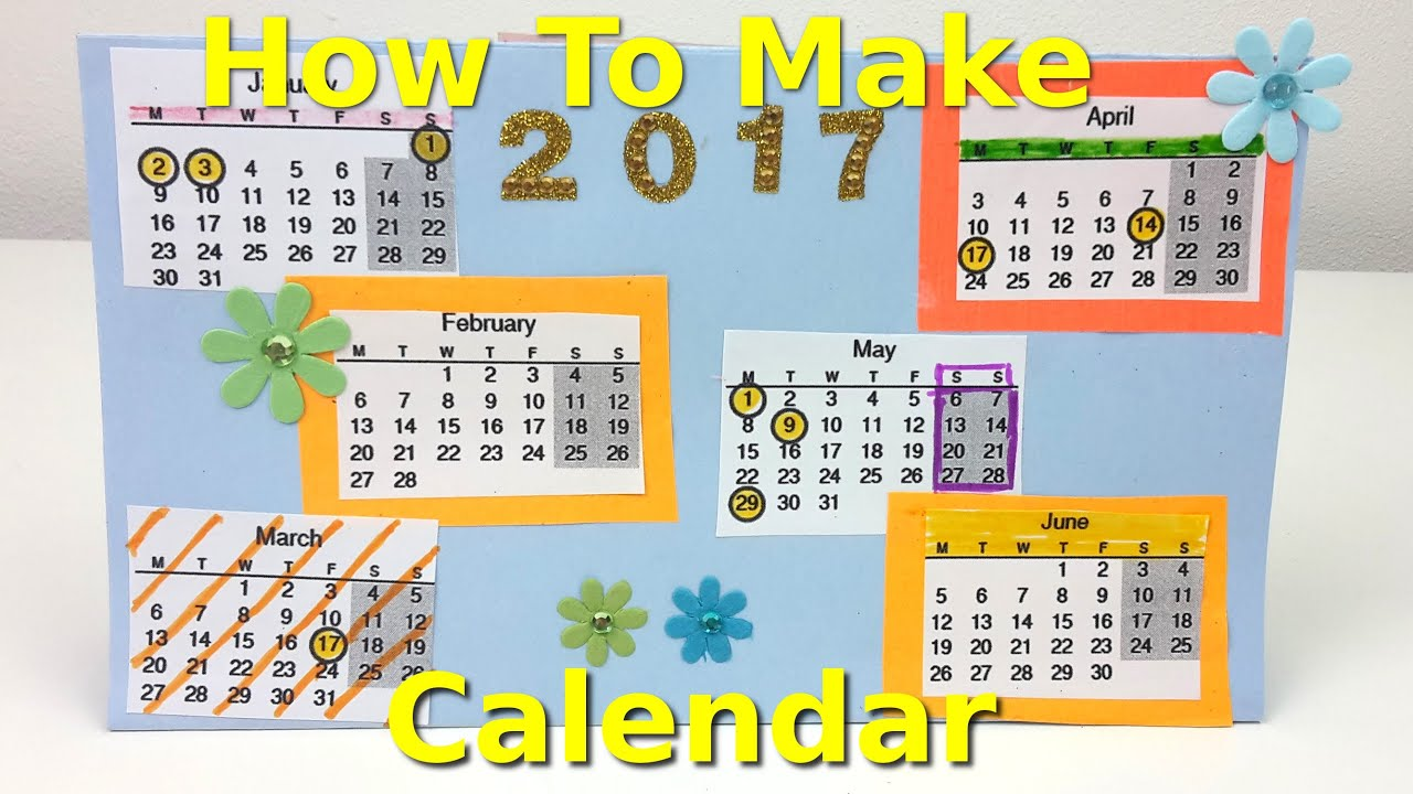 How to Make a Calendar Fun Kids Creative Activity YouTube