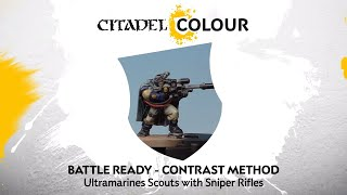 How to Paint: Battle Ready Ultramarines Scouts with Sniper Rifles – Contrast Method