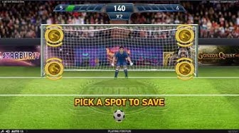 NetEnt - Football Champions Cup Online Slot - Penalty Shootout Bonus