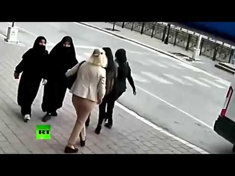 Woman Attacks Two Veil Wearing Teenage Girls In Turkey