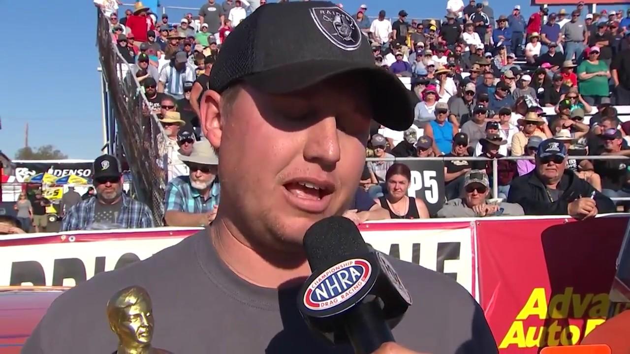 2018 NHRA Arizona Nationals Super Stock winner Justin Lamb