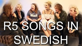 R5 SONGS IN SWEDISH | #CHALLENGESUNDAY