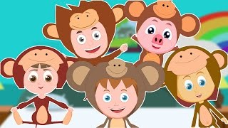 Five Little Monkeys Jumping on the Bed | Kids Rhymes | Nursery Rhymes