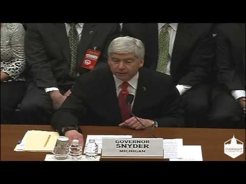 Governor Rick Snyder Testimony - Flint Water Crisis, Part 3
