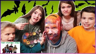 FAMILY FUN FRIDAY!  Carving Pumpkins Challenge GONE WRONG Dad Gets FACE PAINT/ That YouTub3 Family