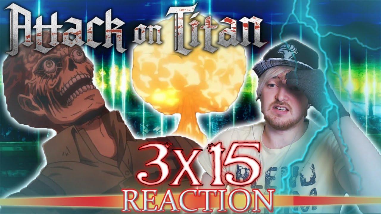 """Attack on Titan: Season 3 - Episode 15 REACTION """"Descent"""" - YouTube"""