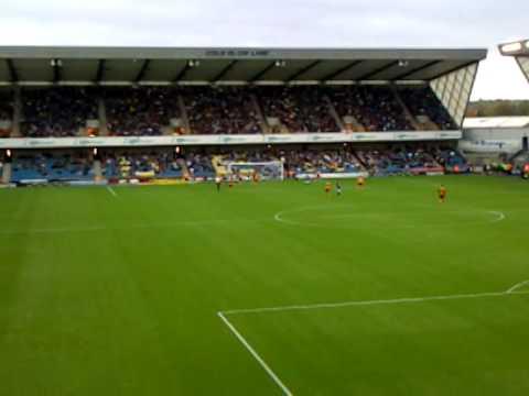 Millwall vs Wolves @ The Den - Danny Batth goal ( 0 - 1)