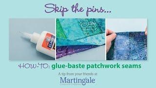 How to glue-baste patchwork seams