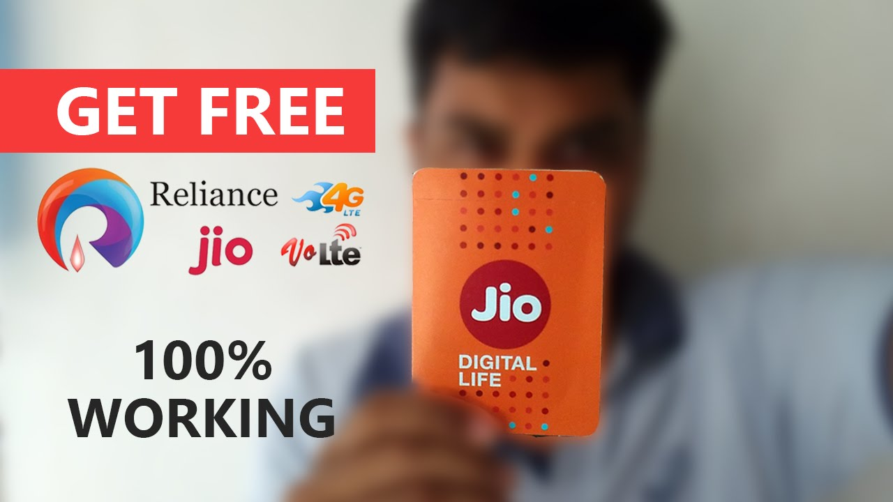 how to get free reliance jio 4g sim with 3 month free data