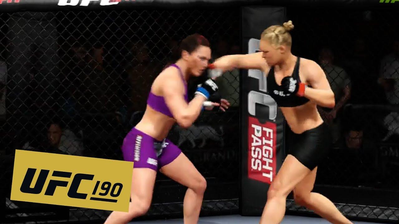 Ufc 190 Ronda Rousey Vs Bethe Correia Full Fight Highlights Ea Sports Ufc Youtube