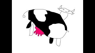 How to draw a cow. #02    (THICC COW)