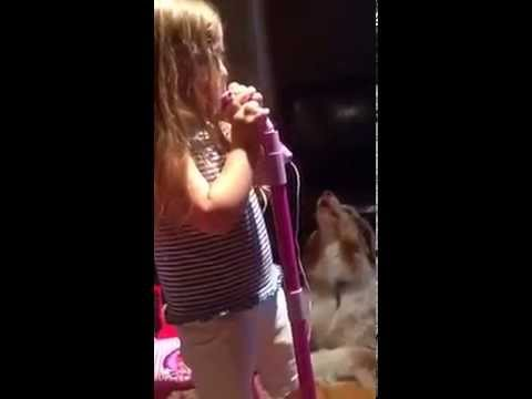 Hayley and Finnegan sing Let It Go