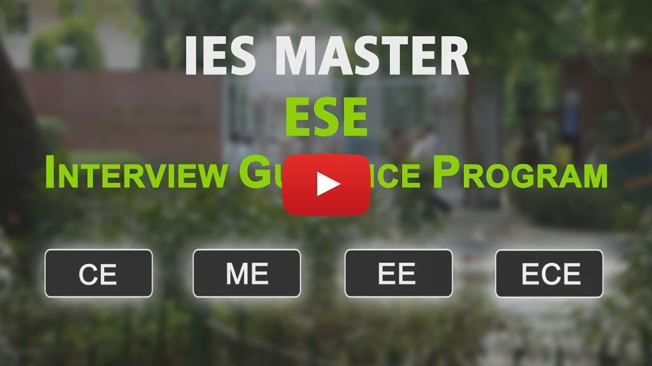 IES Master - Best Coaching for ESE, GATE and PSUs in Delhi