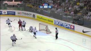 Хоккей ЧМ 2009 1/2 [ Russia - USA ] [ 3прд. ] 720p