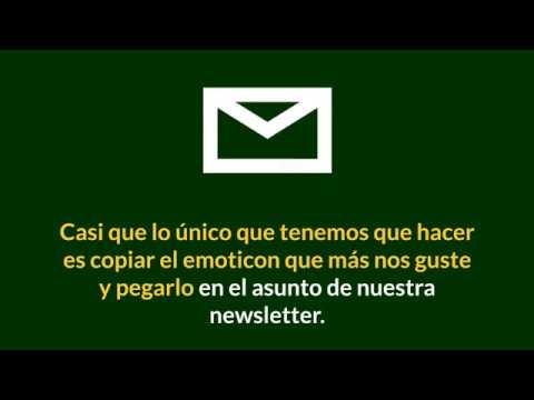 Cómo añadir emoticones para email en el asunto de tu newsletter