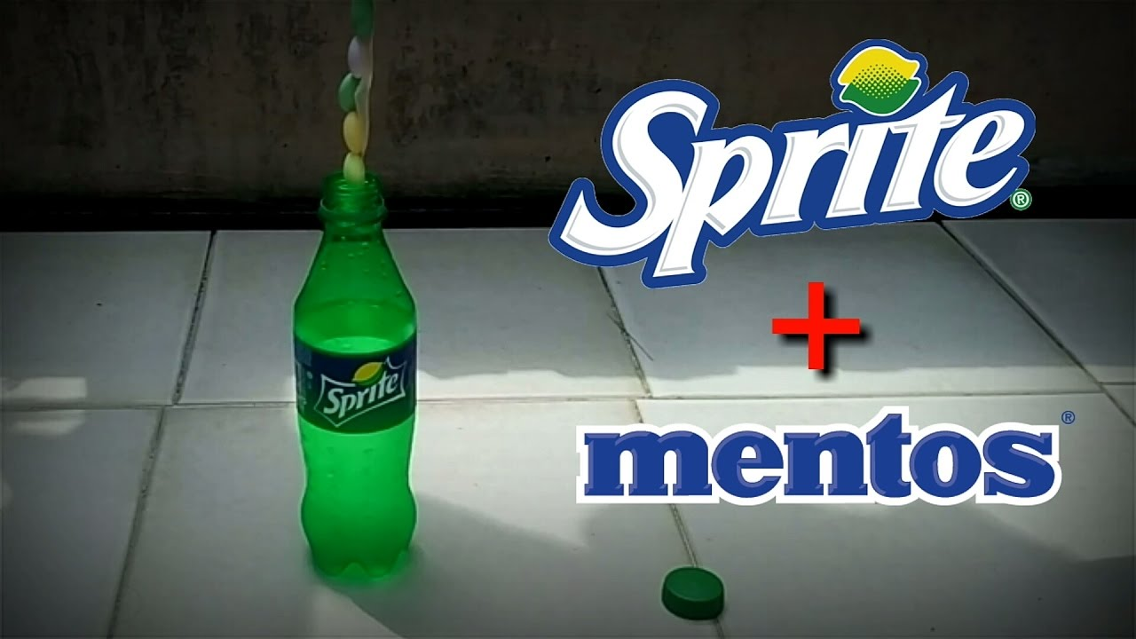 Experiment Sprite and Mentos - YouTube