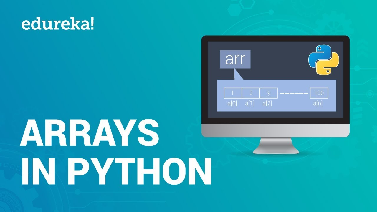 Arrays In Python | Python Array Operations | Edureka