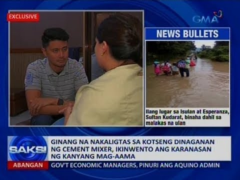 Saksi: Ginang na nakaligtas sa kotseng dinaganan ng cement mixer, ikinwento ang karanasan