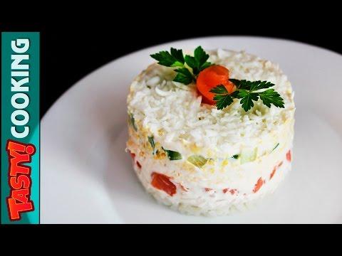6 Layer Salmon Salad Recipe ♥ Tasty Cooking