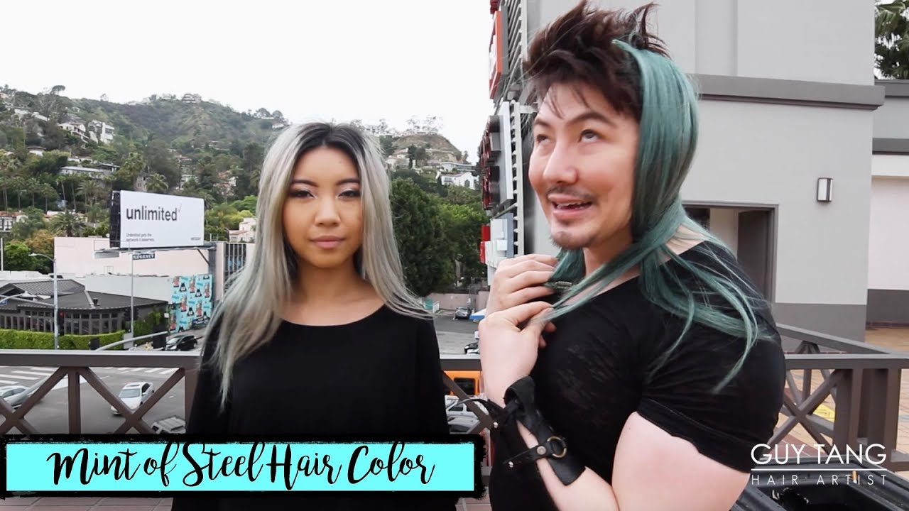 Mint of Steel Hair Color