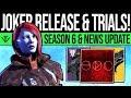 Destiny 2 JOKERS LAUNCH TRIALS UPDATE Season 6 Reveals Trials Rework Content Update More mp3