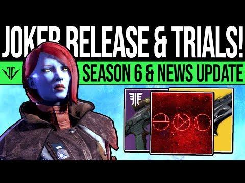Destiny 2 | JOKERS LAUNCH & TRIALS UPDATE! Season 6 Reveals, Trials Rework, Content Update & More thumbnail