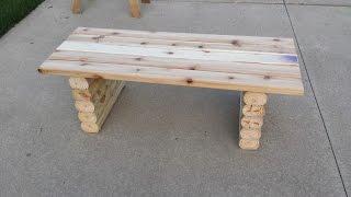 Как сделать лавочку(Как самому сделать деревянную скамейку. Лавочка из дерева своими руками., 2016-02-23T15:08:54.000Z)