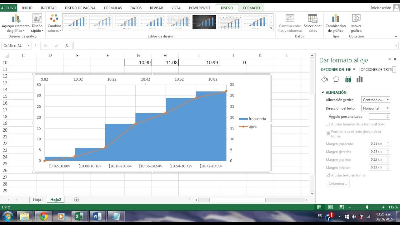 Tutorial Como Elaborar Una Ojiva Con Excel 2013