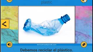 Plástico - Plastic - Spanish word of the day