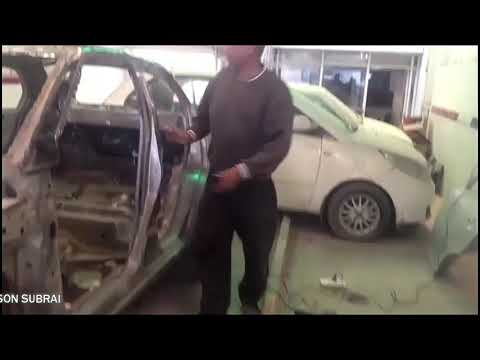 How to repair severe damage to Swift Dzire car by SAMSON SUBRAI