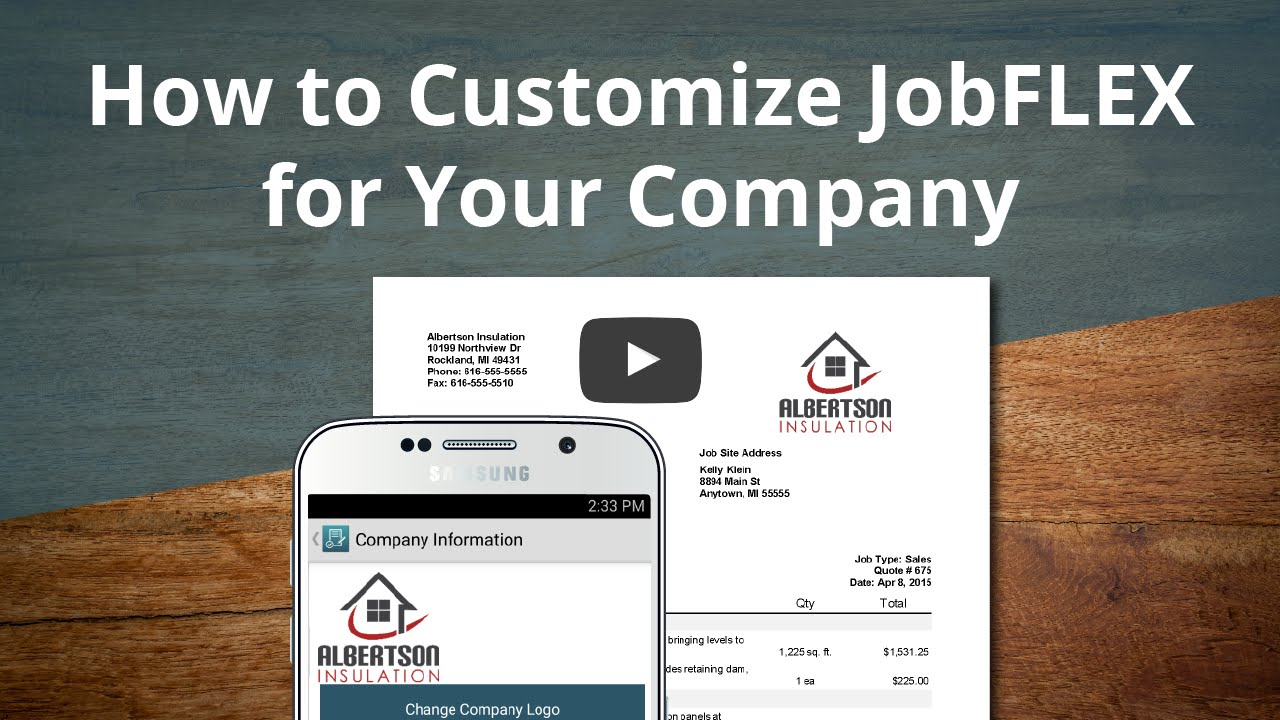 How to Customize the JobFLEX App for Your Company