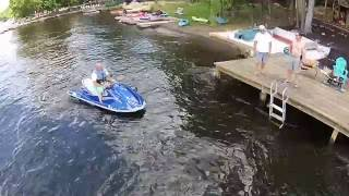 Brian cruising on the Jet Ski