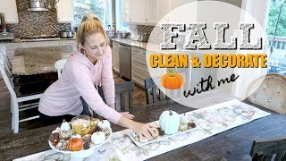 🍁🍂 FALL CLEAN & DECORATE WITH ME 2018 ~ CLEAN WITH ME // AMANDA