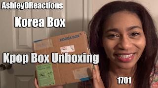 Korea Box Kpop Box 1701   Unboxing thumbnail