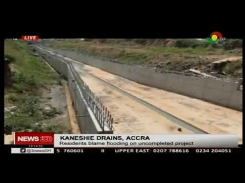Kaneshie uncompleted drains cause of floods