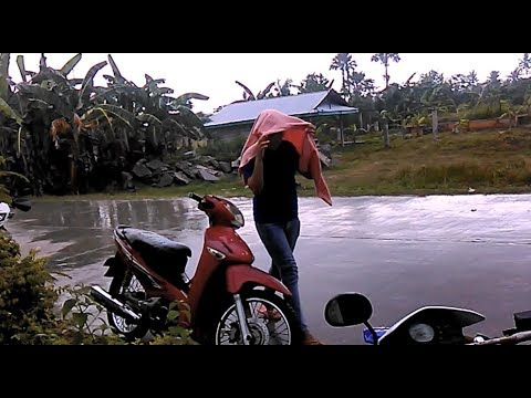 Where To Go When On A Motorcycle And It's Rainng In The Philippines