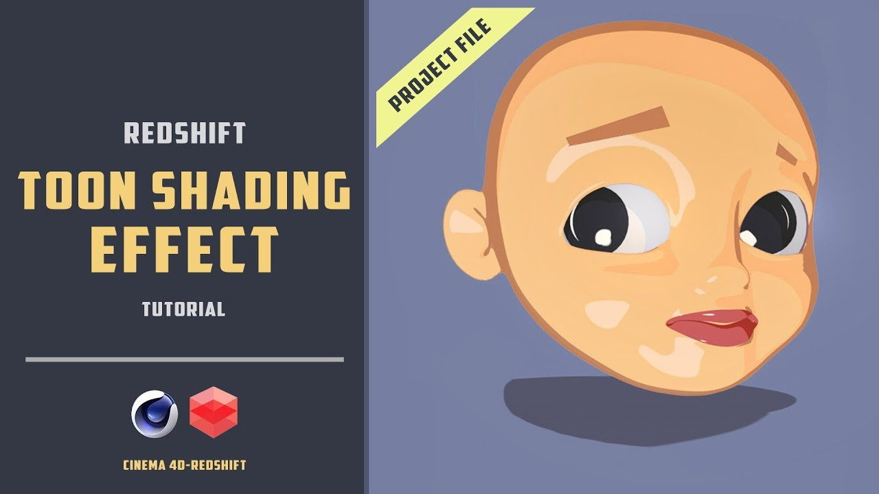 Simple toon shading effect in redshift [CINEMA 4D TUTORIAL]