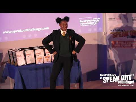 India Thornhill-Dyer, Runner-Up, Jack Petchey's Speak Out Challenge! Waltham Forest Final 18-19