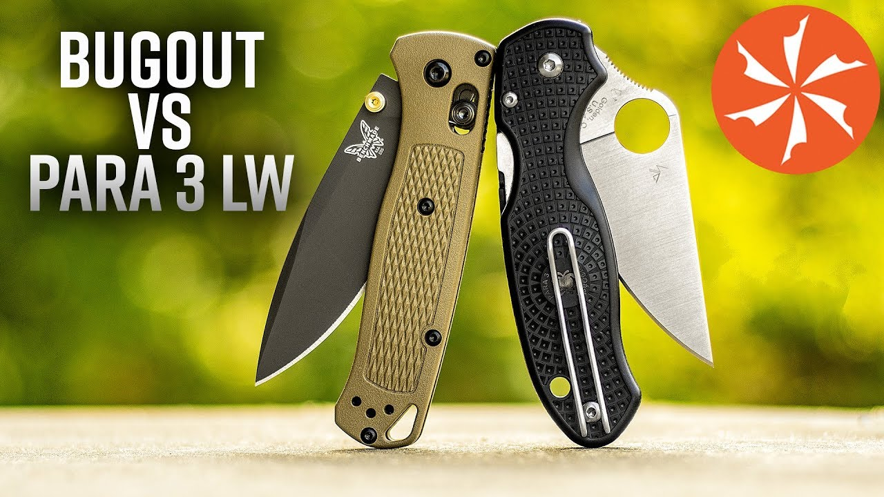 Spyderco Para 3 Lightweight Vs  Benchmade Bugout: Battle of the Slim EDC  Folding Knives