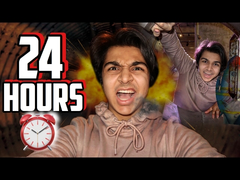 24 HOUR OVERNIGHT CHALLENGE IN A NUCLEAR FALLOUT SHELTER (ALIENS) | OVERNIGHT CHALLENGE IN AREA 51