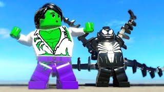 Hulk (Bruce Banner Transformation) vs Venom in LEGO Marvel SuperHeroes