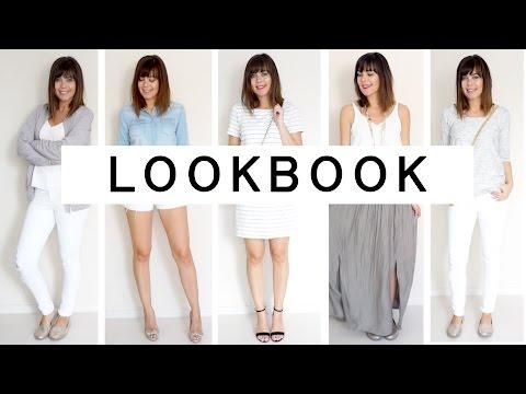 SPRING & SUMMER LOOKBOOK | Sommerkleidung / Sommer Outfits | White Is The New Black | JucePauline