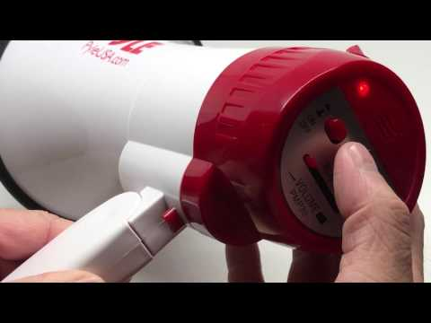 Pyle PMP30 Professional Hand-Grip Type Megaphone Bullhorn with Siren | Quick Demonstration【4K】