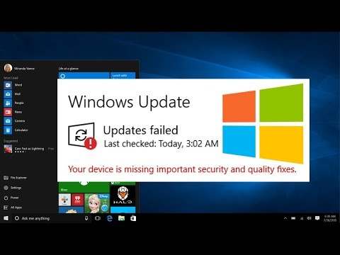 Your Device Is Missing Important Security And Quality Fixes   How To Fix Windows 10 Update Errors